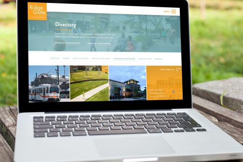 Interactive directory map for RidgeGate community website